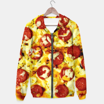 Miniatur Novelty Cheesy Pepperoni Pizza Hoodie, Live Heroes