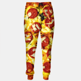 Miniatur Novelty Cheesy Pepperoni Pizza Sweatpants, Live Heroes