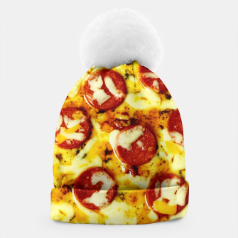 Miniatur Novelty Cheesy Pepperoni Pizza Beanie, Live Heroes