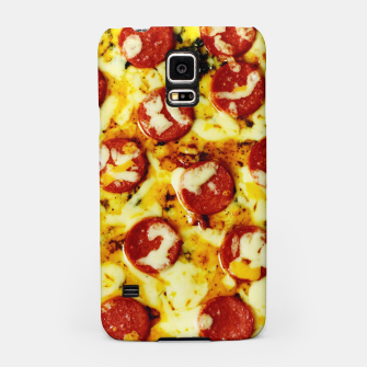 Miniatur Novelty Cheesy Pepperoni Pizza Samsung Case, Live Heroes