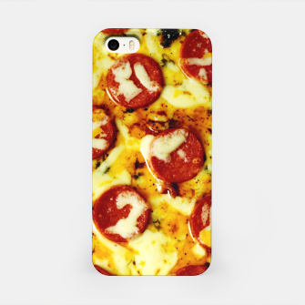 Miniatur Novelty Cheesy Pepperoni Pizza iPhone Case, Live Heroes