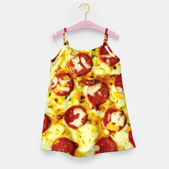 Miniatur Novelty Cheesy Pepperoni Pizza Girl's Dress, Live Heroes