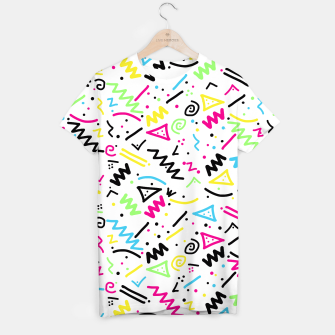 Miniatur Retro 80's 90's Neon Pink Green Blue Yellow Doodle T-shirt, Live Heroes