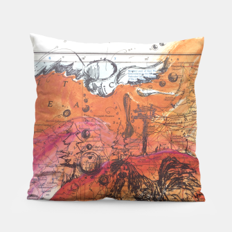 Miniatur Flying Teacup Pillow, Live Heroes