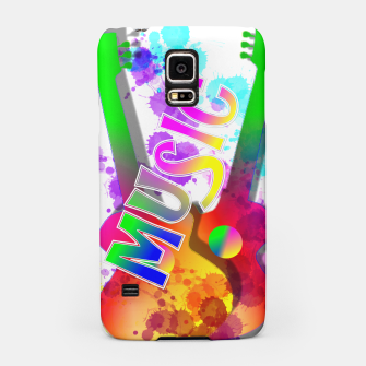 Thumbnail image of Music Themed Popping Guitars Colorful Design Samsung Case, Live Heroes