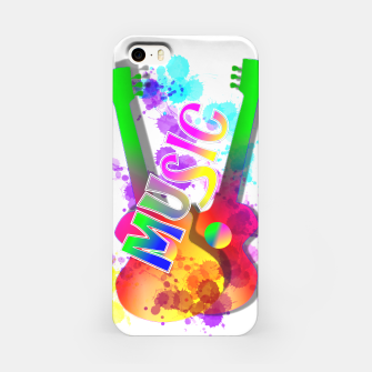 Thumbnail image of Music Themed Popping Guitars Colorful Design iPhone Case, Live Heroes