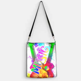 Thumbnail image of Music Themed Popping Guitars Colorful Design Handbag, Live Heroes