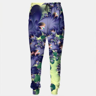 Thumbnail image of Fantastical Purple Feathers Fractal Abstract Sweatpants, Live Heroes