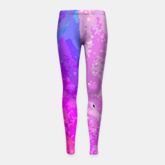 fox_fire_spin Girl's Leggings thumbnail image