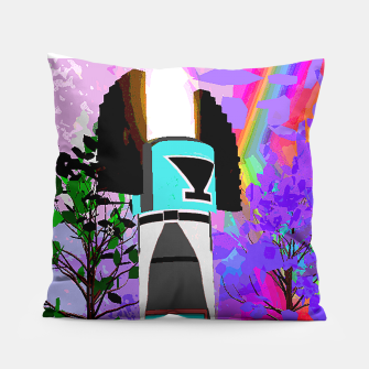 Thumbnail image of kachina fire tree Pillow, Live Heroes