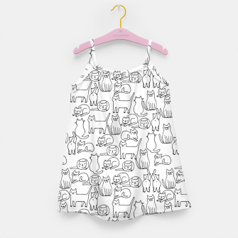 Miniaturka Sketchy Cute Cats  Girl's Dress, Live Heroes
