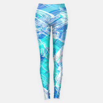 Thumbnail image of Ocean space waves Leggings, Live Heroes