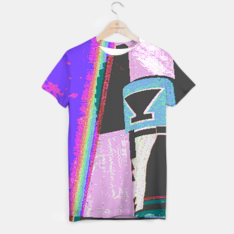 Thumbnail image of Kachina rainbow stripe T-shirt, Live Heroes