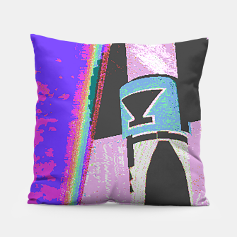 Thumbnail image of Kachina rainbow stripe Pillow, Live Heroes