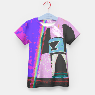 Thumbnail image of Kachina rainbow stripe Kid's T-shirt, Live Heroes