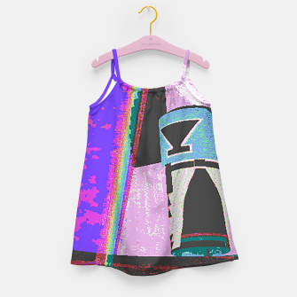 Thumbnail image of Kachina rainbow stripe Girl's Dress, Live Heroes