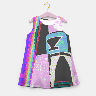 Thumbnail image of Kachina rainbow stripe Girl's Summer Dress, Live Heroes