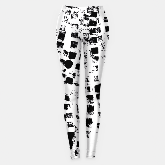 Thumbnail image of Black graphic texture  Leggings, Live Heroes
