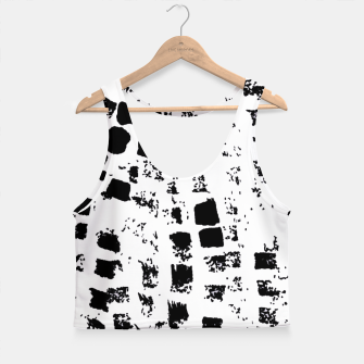 Thumbnail image of Black graphic texture  Crop Top, Live Heroes
