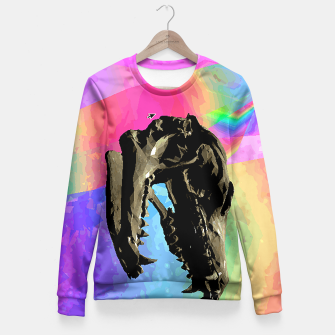 Thumbnail image of rainbow spin Fitted Waist Sweater, Live Heroes