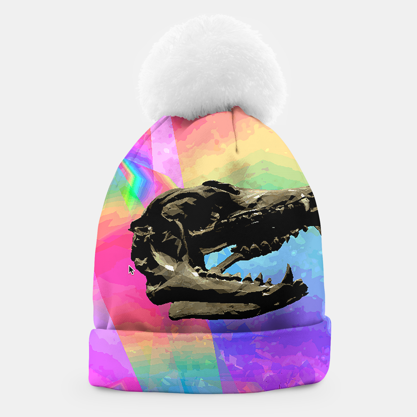 Image of rainbow spin Beanie - Live Heroes