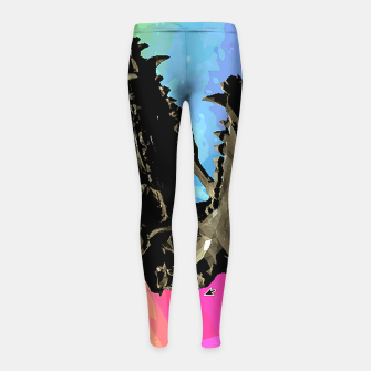 Thumbnail image of rainbow spin Girl's Leggings, Live Heroes
