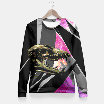 Thumbnail image of space skull Fitted Waist Sweater, Live Heroes