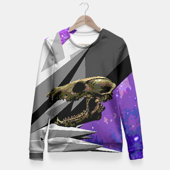 SPACE SKULL CRYSTAL Fitted Waist Sweater thumbnail image