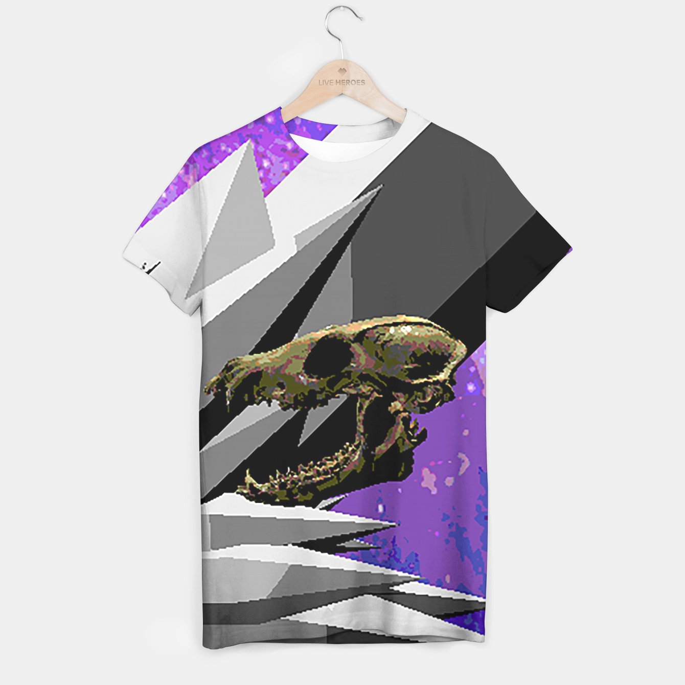 Image of SPACE SKULL CRYSTAL T-shirt - Live Heroes