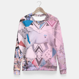 Thumbnail image of Unicron pastel heart Fitted Waist Sweater, Live Heroes