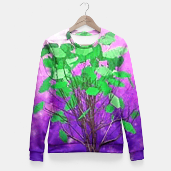 Thumbnail image of Space tree Fitted Waist Sweater, Live Heroes
