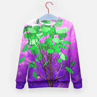 Thumbnail image of Space tree Kid's Sweater, Live Heroes