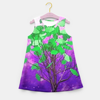 Space tree Girl's Summer Dress thumbnail image