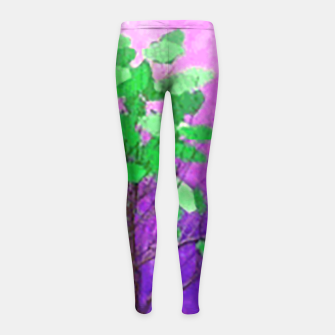 Space tree Girl's Leggings thumbnail image