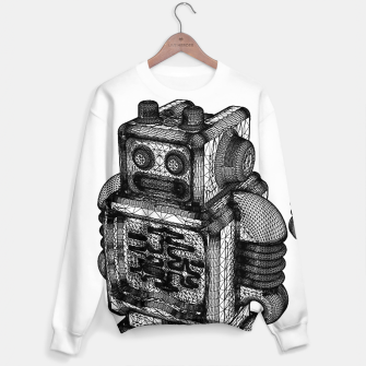 Thumbnail image of wireframe robot Sweater, Live Heroes