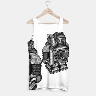 Thumbnail image of wireframe robot Tank Top, Live Heroes