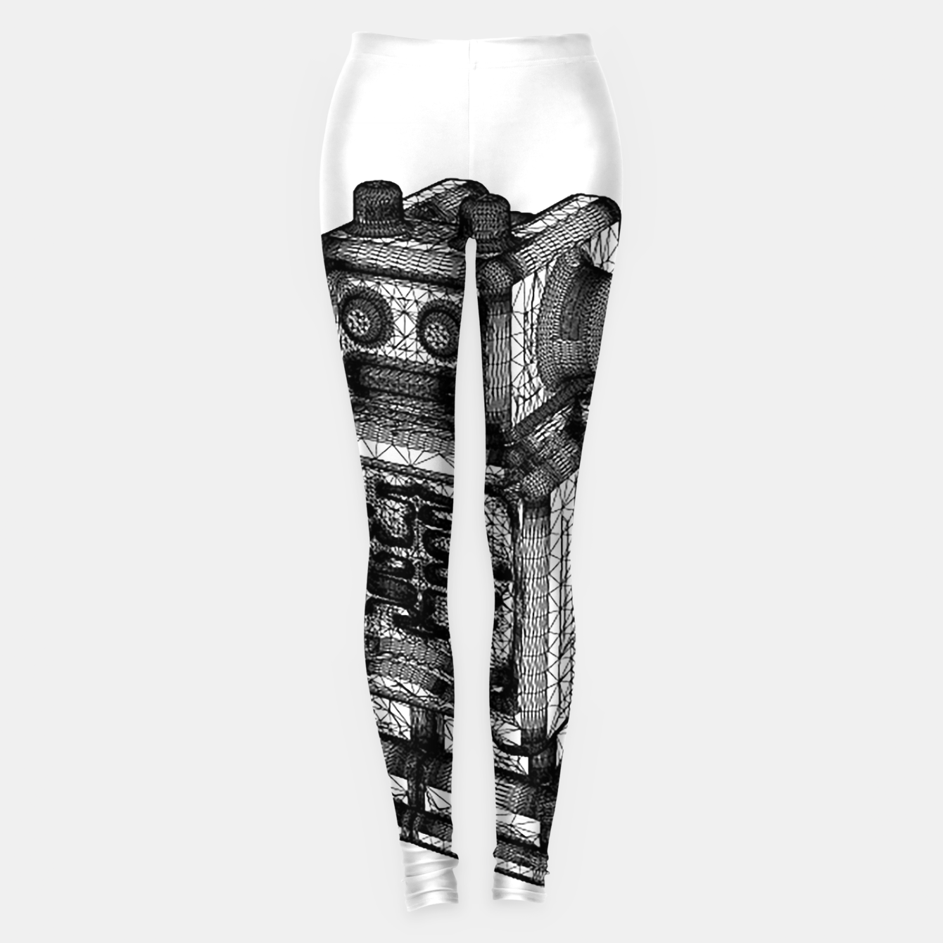 Image of wireframe robot Leggings - Live Heroes