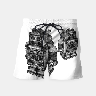 Thumbnail image of wireframe robot Swim Shorts, Live Heroes