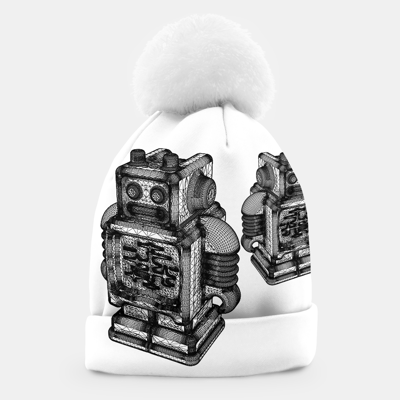 Image of wireframe robot Beanie - Live Heroes