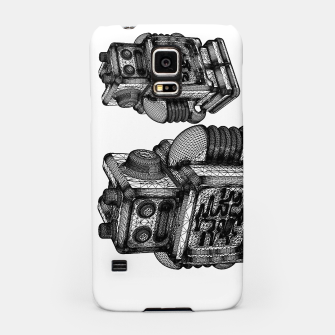Thumbnail image of wireframe robot Samsung Case, Live Heroes