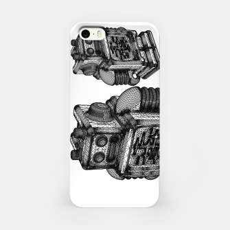 Thumbnail image of wireframe robot iPhone Case, Live Heroes