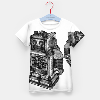 Thumbnail image of wireframe robot Kid's T-shirt, Live Heroes