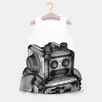 wireframe robot Girl's Summer Dress thumbnail image