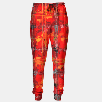 Thumbnail image of Red checkered Abstract  Sweatpants, Live Heroes