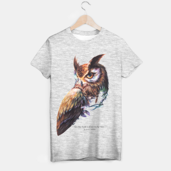 Thumbnail image of owl T-shirt, Live Heroes