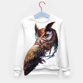 Thumbnail image of owl Kid's Sweater, Live Heroes