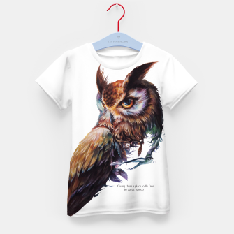 Thumbnail image of owl Kid's T-shirt, Live Heroes