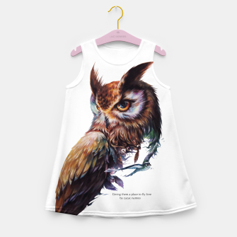 Thumbnail image of owl Girl's Summer Dress, Live Heroes