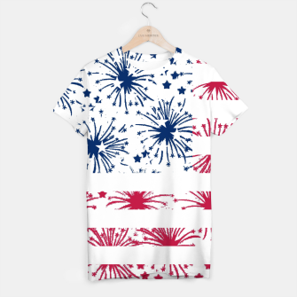 Thumbnail image of Independence day pattern T-shirt, Live Heroes