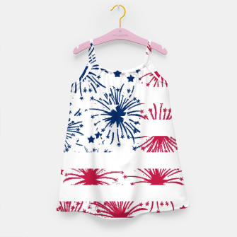Thumbnail image of Independence day pattern Girl's Dress, Live Heroes
